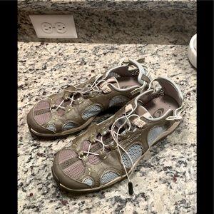 Size 8.5 Salomon water sneakers in powder blue